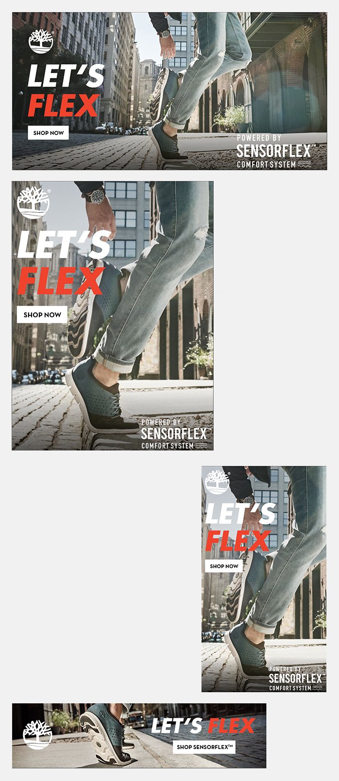 Timberland SensorFlexT HTML5 Ads Strategic Brand